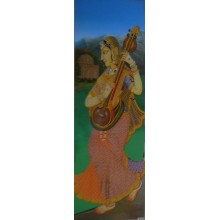 Woman Playing Sitar
