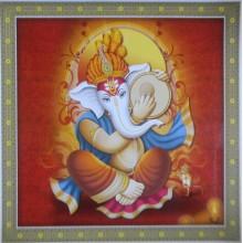 Ganesha Playing Metal Duff